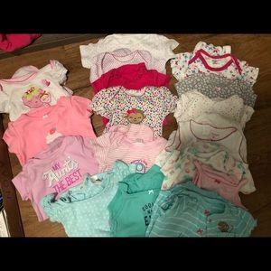 Big bundle of girl clothes 3-9 months